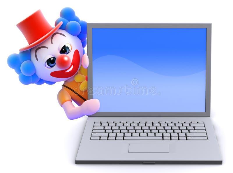 Clown 3d lapot stock abbildung