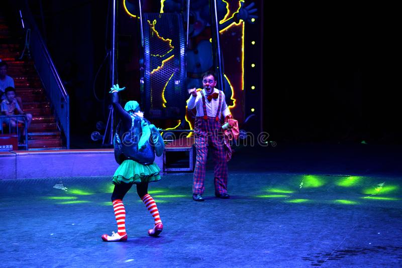 Clown de comédie de cirque de Changhaï image libre de droits