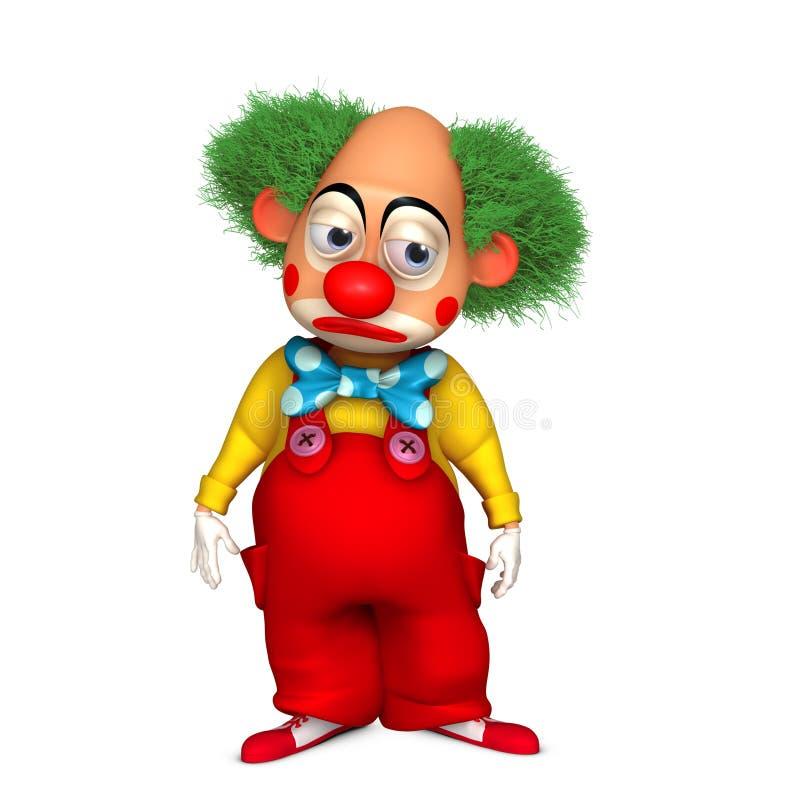 Clown de dessin animé illustration libre de droits