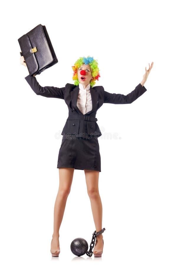 Clown De Femme Photographie stock libre de droits