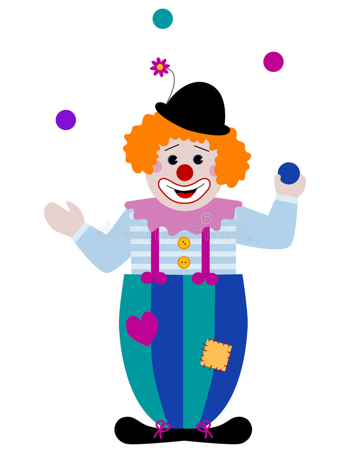 Clown de jonglerie illustration stock