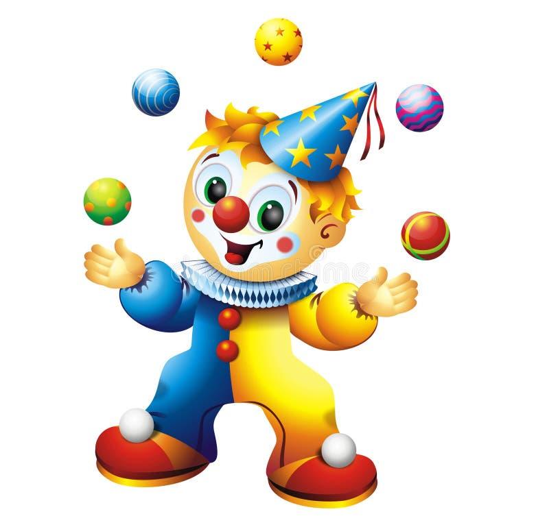 Clown de jonglerie illustration de vecteur