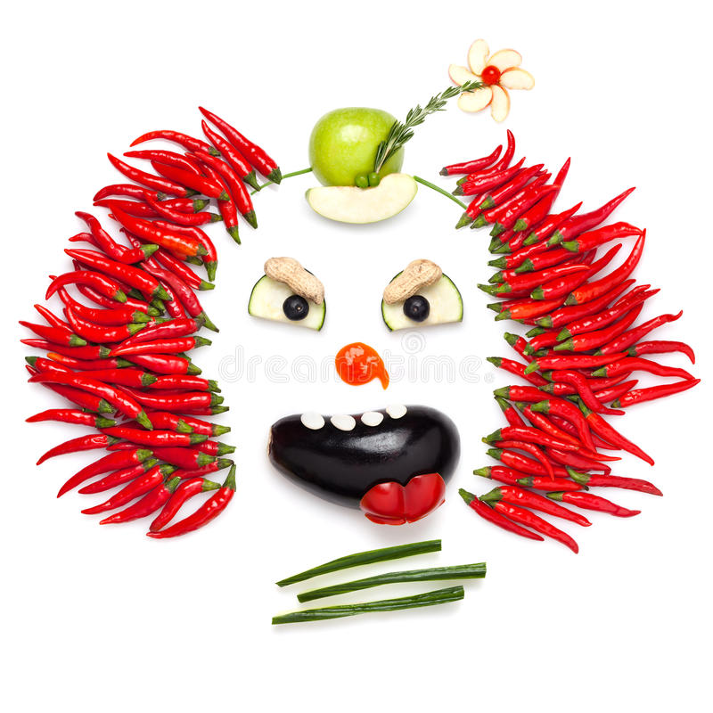 Clown de piments. image stock