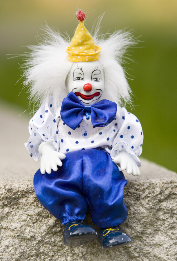 Clown de repos de porcelaine images libres de droits