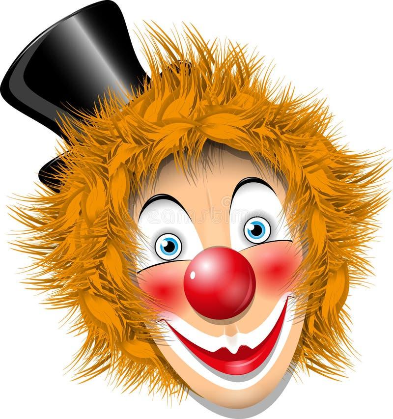 Clown de roux illustration libre de droits