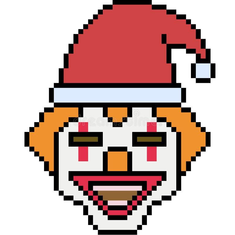 Clown de Santa d'art de pixel de vecteur photographie stock libre de droits