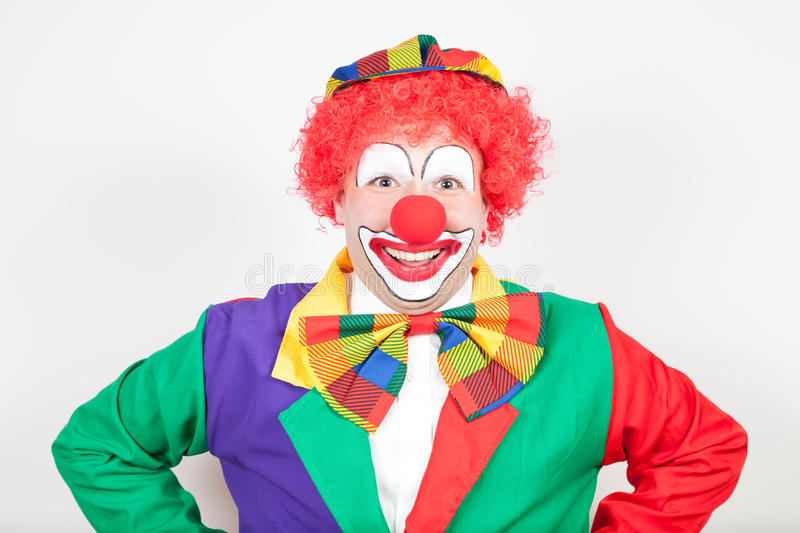 Clown de sourire image stock