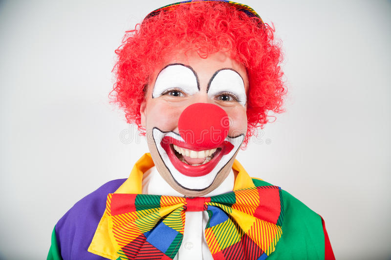 Clown de sourire photos stock