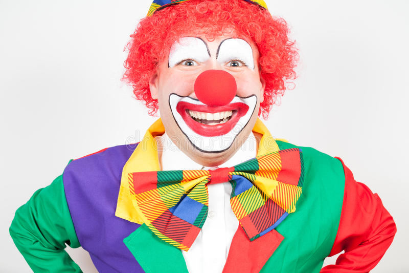 Clown de sourire photo stock