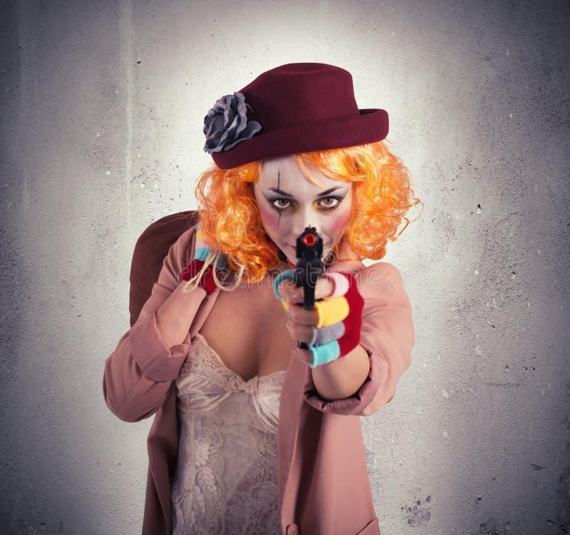 Clown de voleur images libres de droits