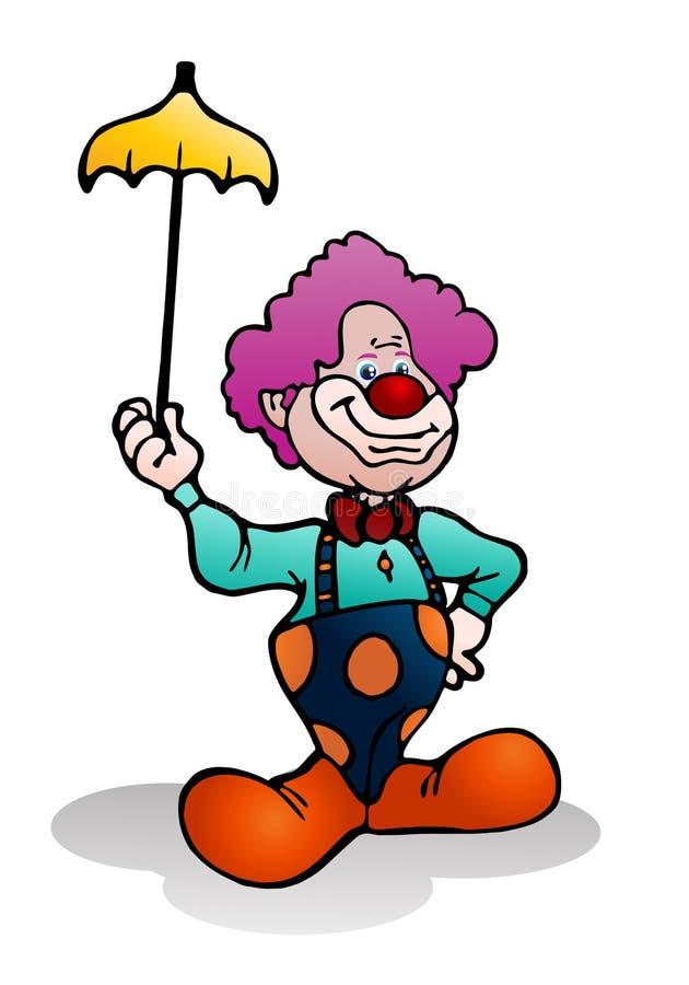 Download Clown, Der Gelben Regenschirm Anhält Stock Abbildung - Illustration von aktivität, freizeit: 26354241