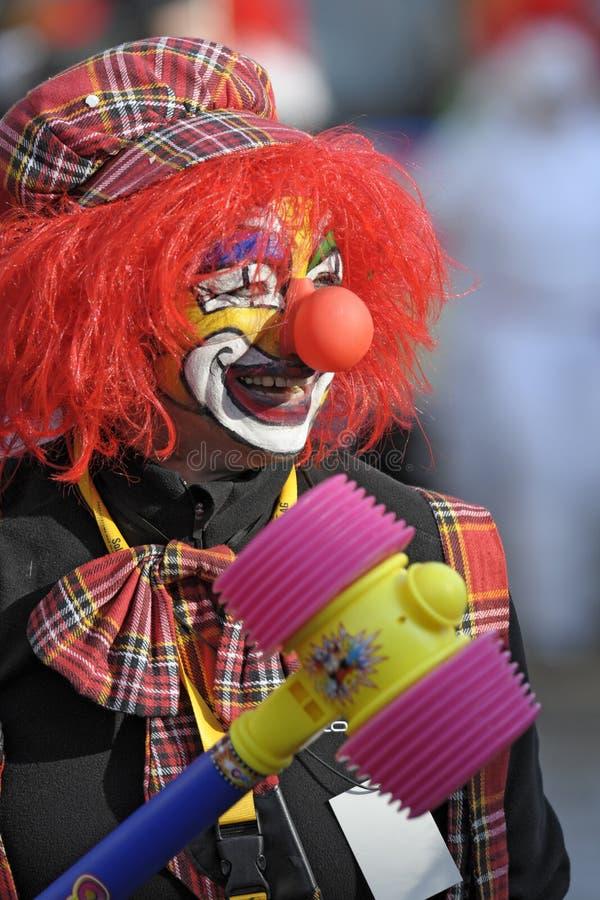 Clown an der Karnevalsparade stockfotos