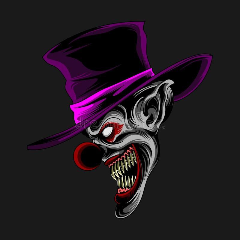 Purple hat clown stock illustration