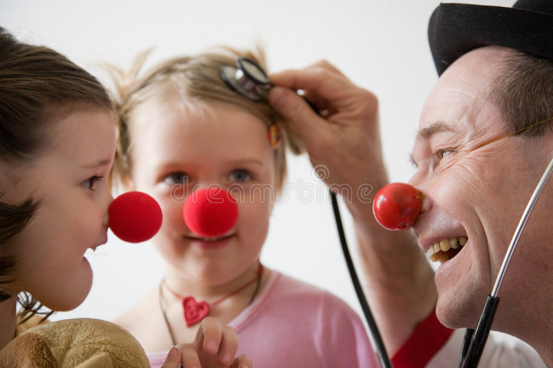 Clown doctor stock image