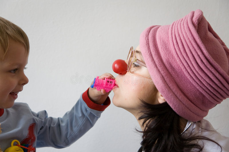 Clown doctor royalty free stock photos