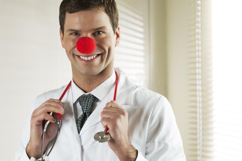 Clown-Doktor Portrait stockfotografie