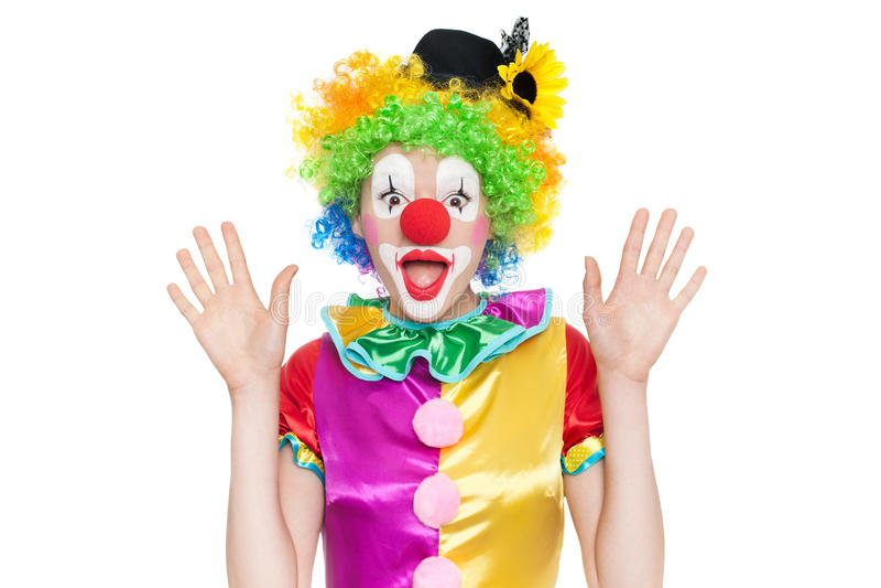 Download Clown Drôle - Colorfullportrait Image stock - Image du amuseur, heureux: 56476585