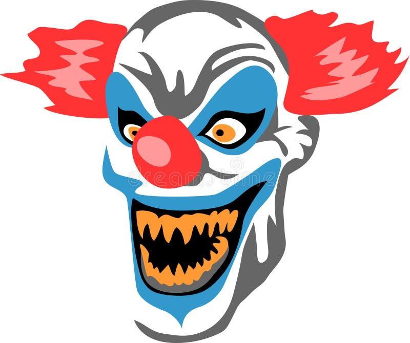 Clown effrayant illustration libre de droits