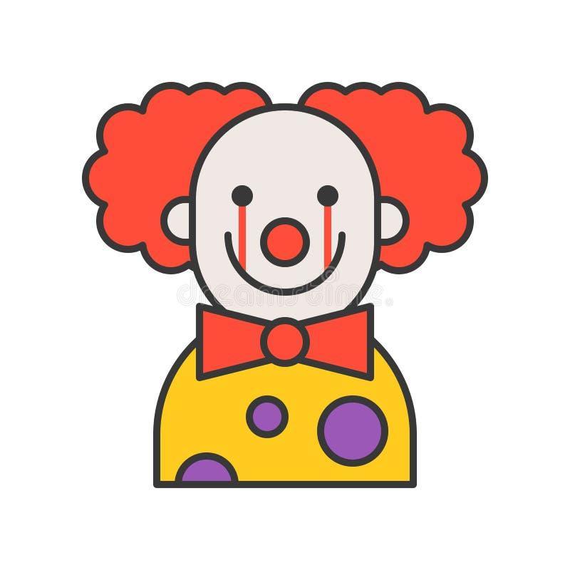 Clown effrayant, St editable de conception d'ensemble d'icône de caractère de Halloween illustration de vecteur