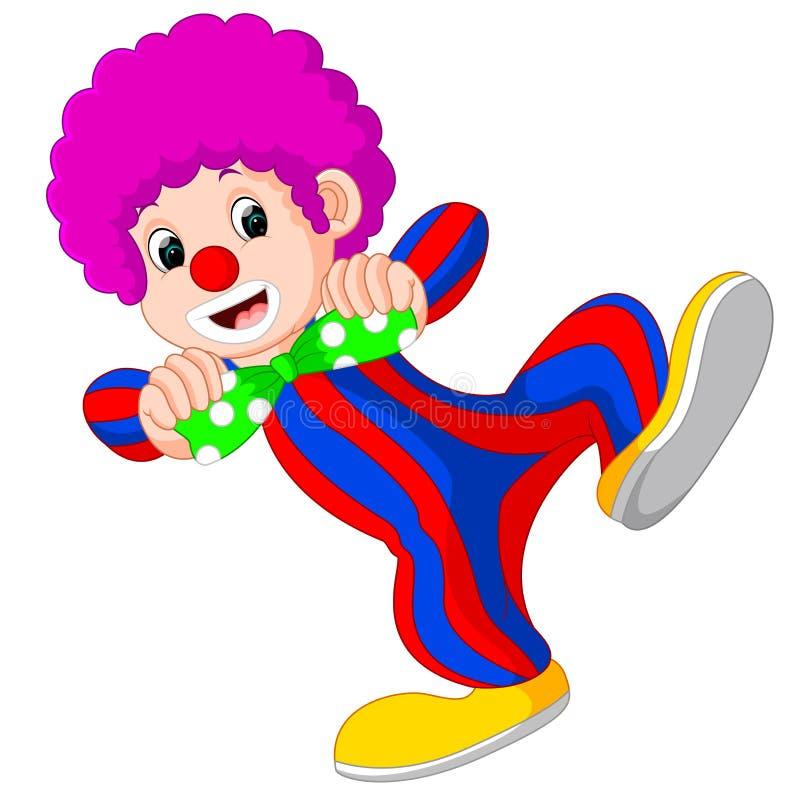 Clown employant la grande bande dessinée de lien illustration stock