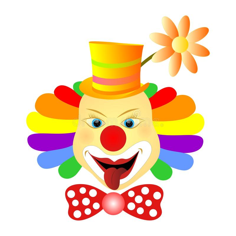 Clown face. Vector illustration of happy clown face isolated vector illustration