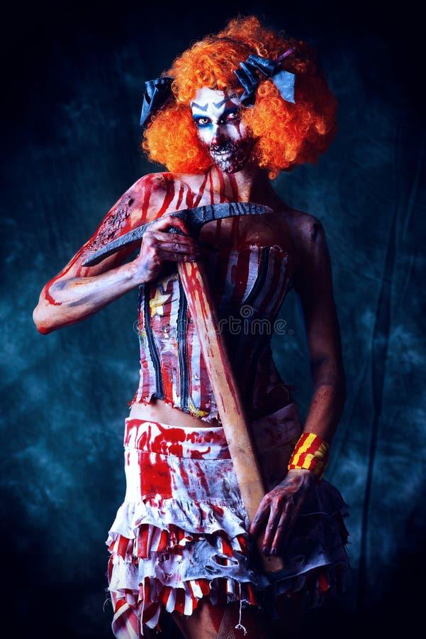 Clown fantasmagorique photographie stock