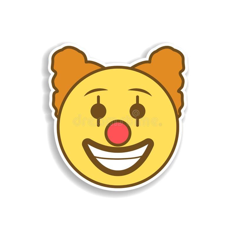 Clown farbige emoji Aufkleberikone Element von emoji für bewegliche Konzept und Netz Appsillustration vektor abbildung