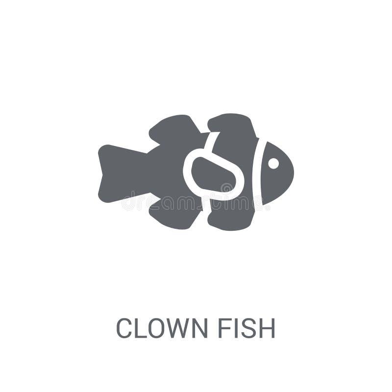 Clown Fish Icon  stock abbildung