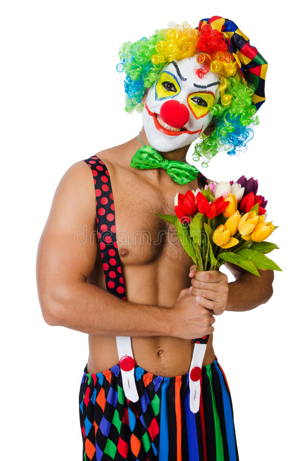 Download Clown with flowers stock image. Image of costume, makeup - 33222861