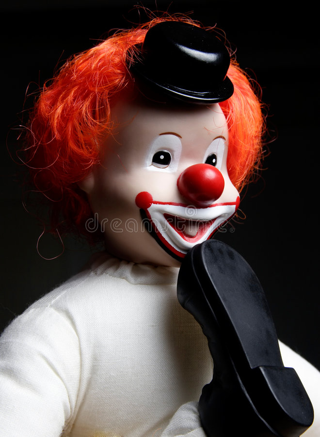 Download Clown With Foot In His Mouth Stock Image - Image: 179709