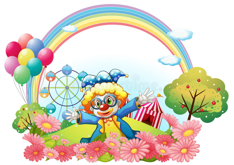 Download A Clown In The Garden At The Hill Royalty Free Stock Photography - Image: 33695027