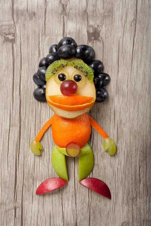 Clown gemacht von den Früchten lizenzfreie stockbilder