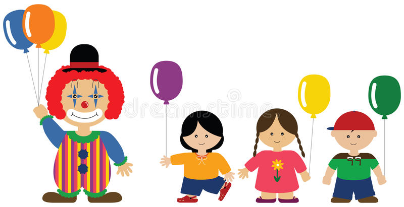 Download Clown Giving Balloons To Children Stock Image - Image: 9785591
