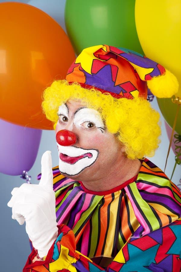 Clown Has A Secret Stock Photography