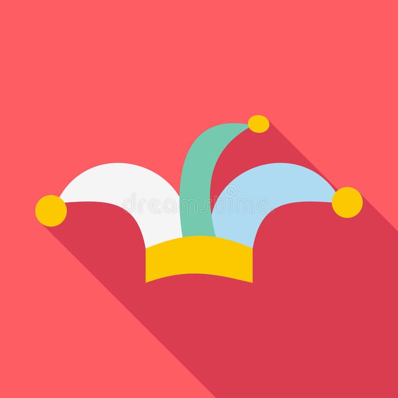 Free Clown Hat Icon, Flat Style Royalty Free Stock Images - 79712109