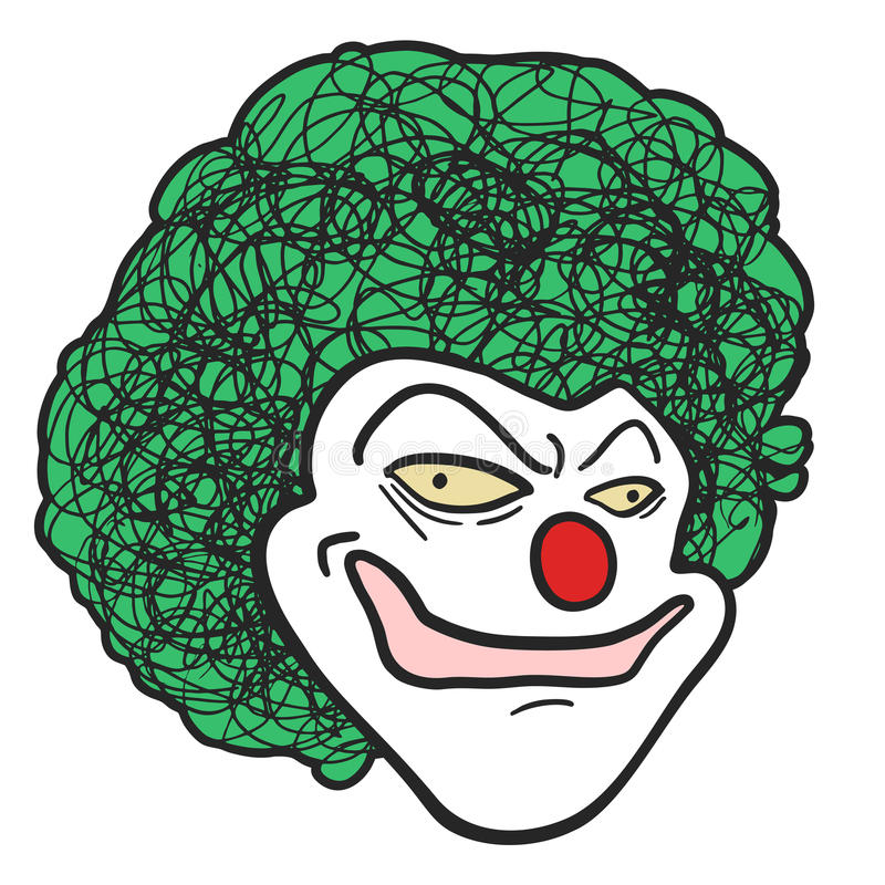 Download Clown head stock vector. Image of puppet, hand, style - 35485868