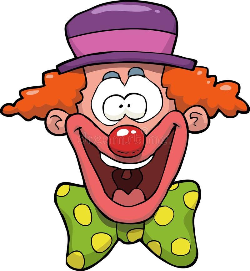 Clown Head de bande dessinée illustration de vecteur