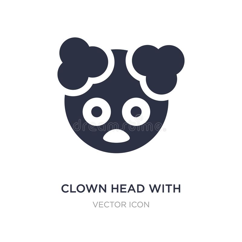 clown head with hat icon on white background. Simple element illustration from Party concept stock illustration