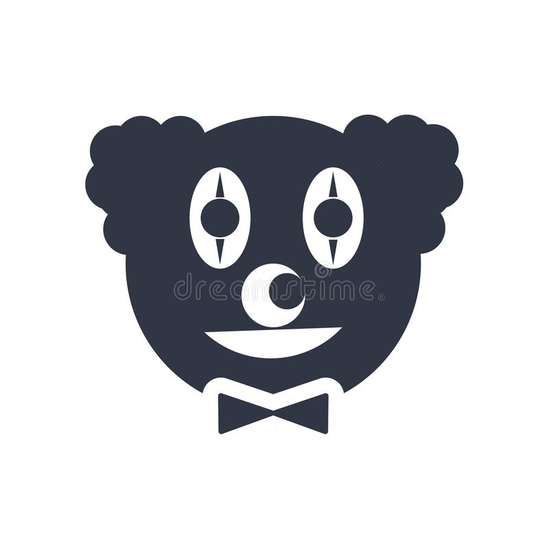 Clown head icon vector sign and symbol isolated on white background, Clown head logo concept stock illustration