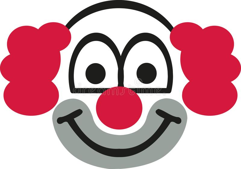 Clown head with red hair royalty free illustration