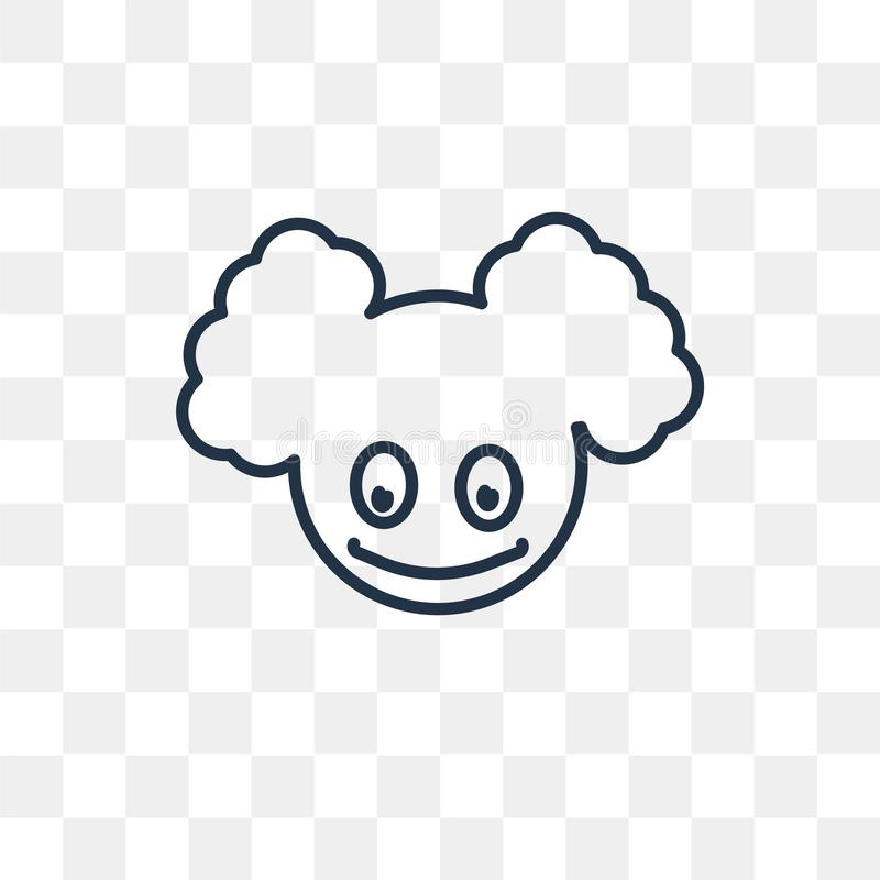 Clown Head vector icon isolated on transparent background, linear Clown Head transparency concept can be used web and mobile royalty free illustration