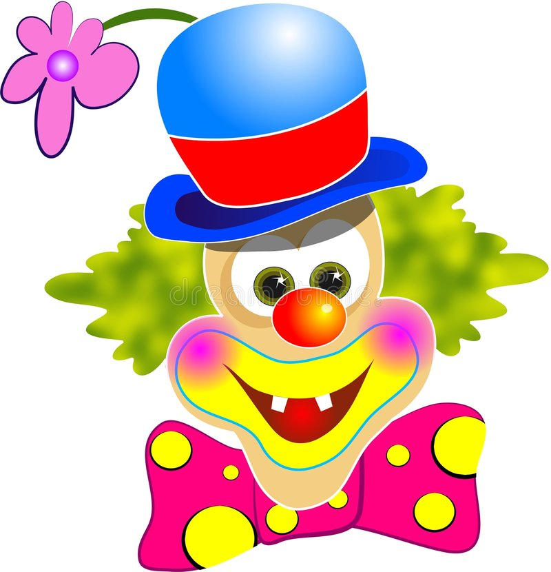 Clown heureux illustration de vecteur