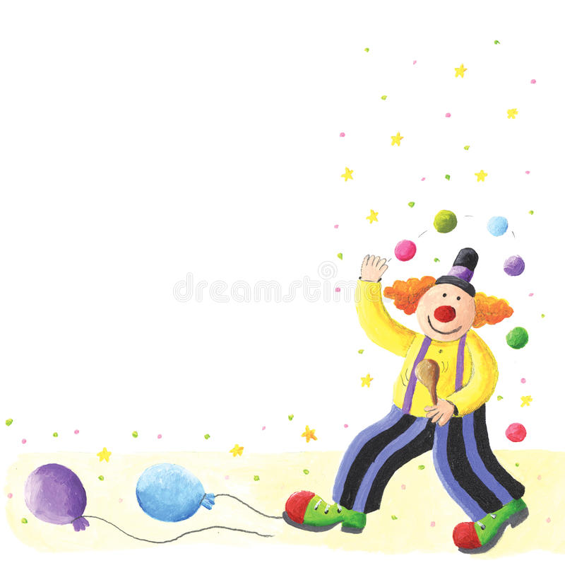 Clown heureux illustration de vecteur