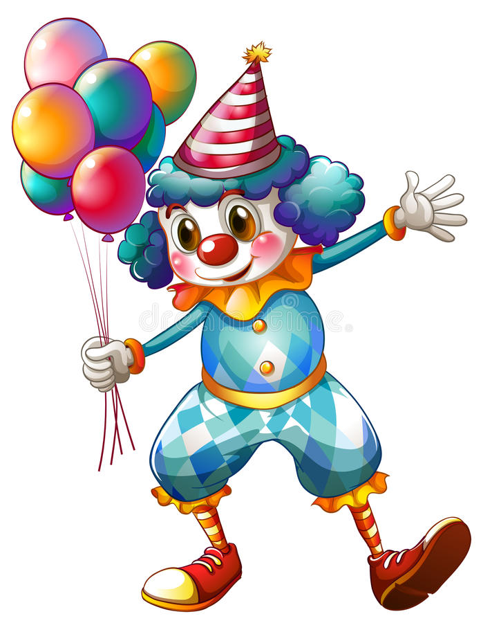 A Clown Holding Balloons Royalty Free Stock Photography