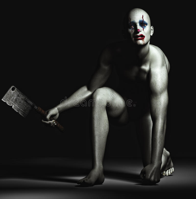 Clown/homme effrayants de boogy - monstre illustration stock