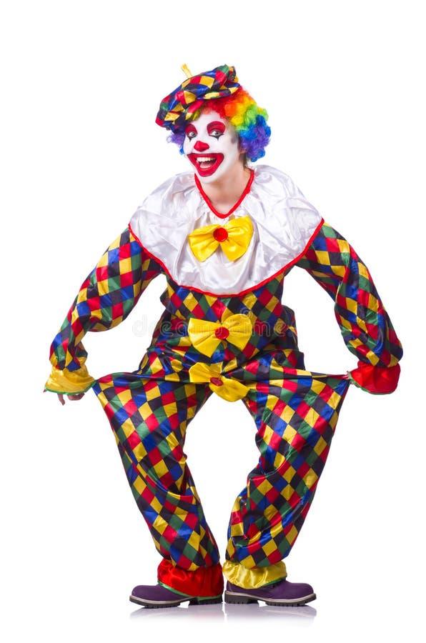 Clown im Kostüm lizenzfreie stockbilder