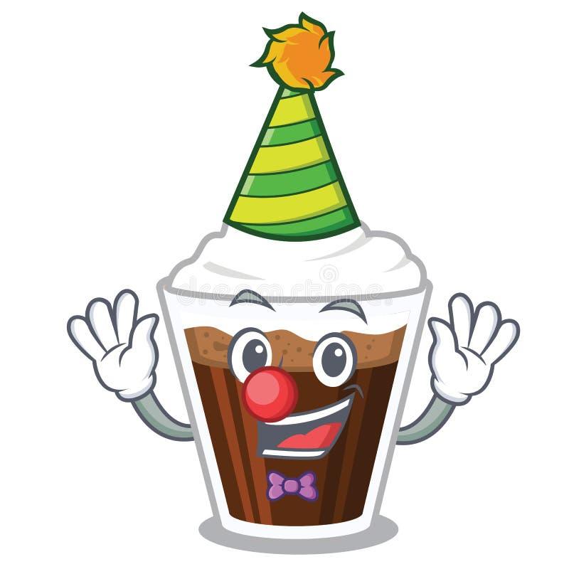 Clown-Irish-coffe in der Zeichenform stock abbildung