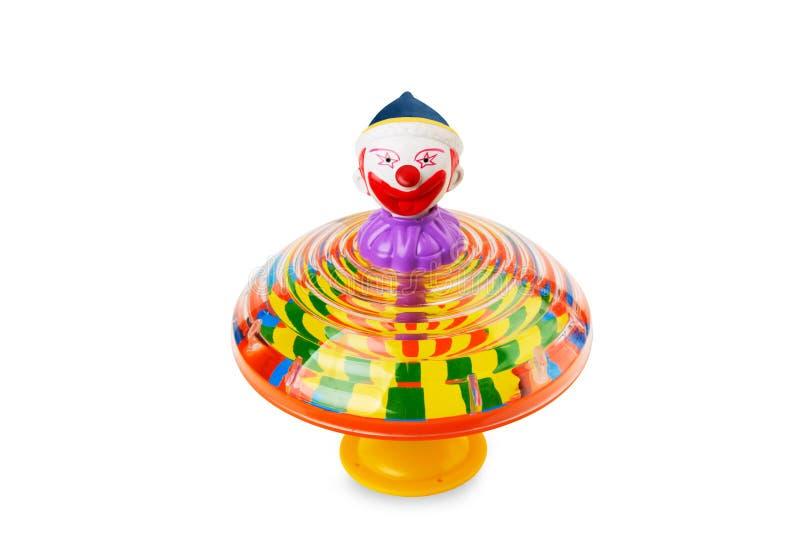 clown isolerad rotationsöverkant fotografering för bildbyråer