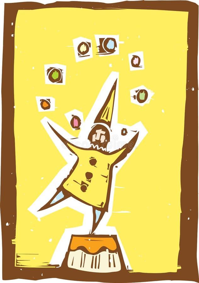 Clown-Jongleur #3 lizenzfreie abbildung