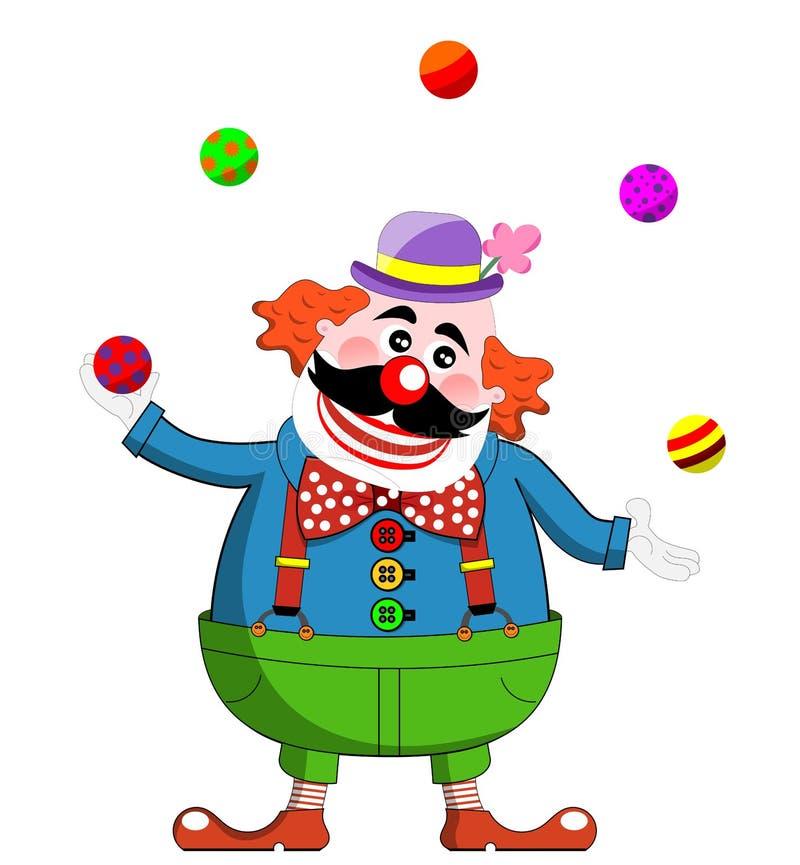 Download Clown Juggling stock illustration. Image of human, cartoon - 27419053